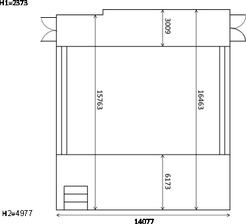 Fig. 1 Dimensions of the building