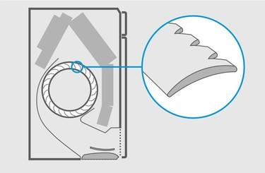Detail lopatky tichého ventilátoru jednotky Daikin Stylish.